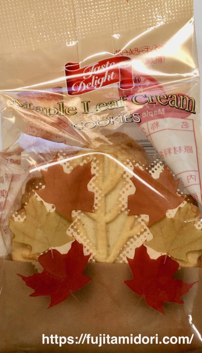 テイストデライト『メイプルリーフ クリームクッキー』のパッケージデザイン